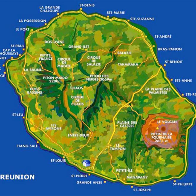 Carte De La Reunion