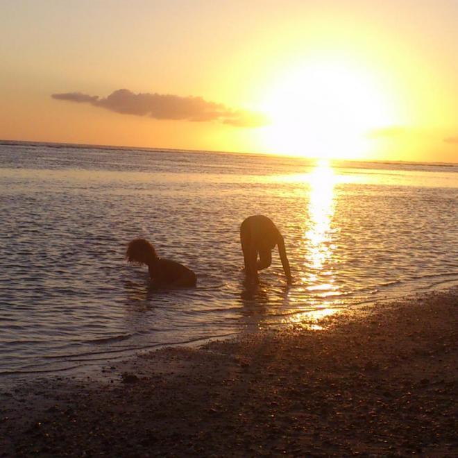 coucher de soleil plage de la Saline
